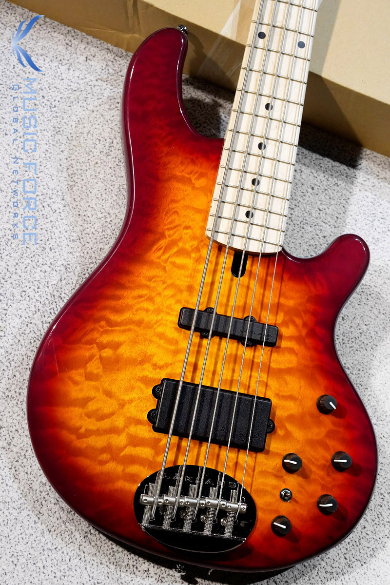 [특별세일!!!] Lakland Skyline 55-02 Deluxe QMT-Cherry Sunburst w/Maple FB #2(2018년산/신품)