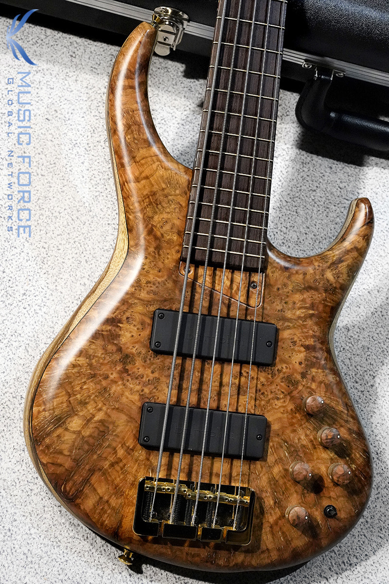 MTD 535-24 US Custom Bass Black Limba Body-Chechen Burl Top w/Wenge Neck & FB(2020년산/신품)