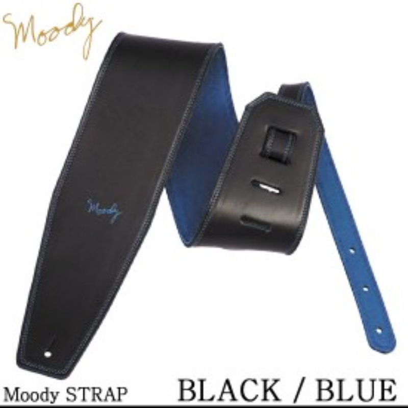"Moody 4.0"" Black/Blue Leather Std"