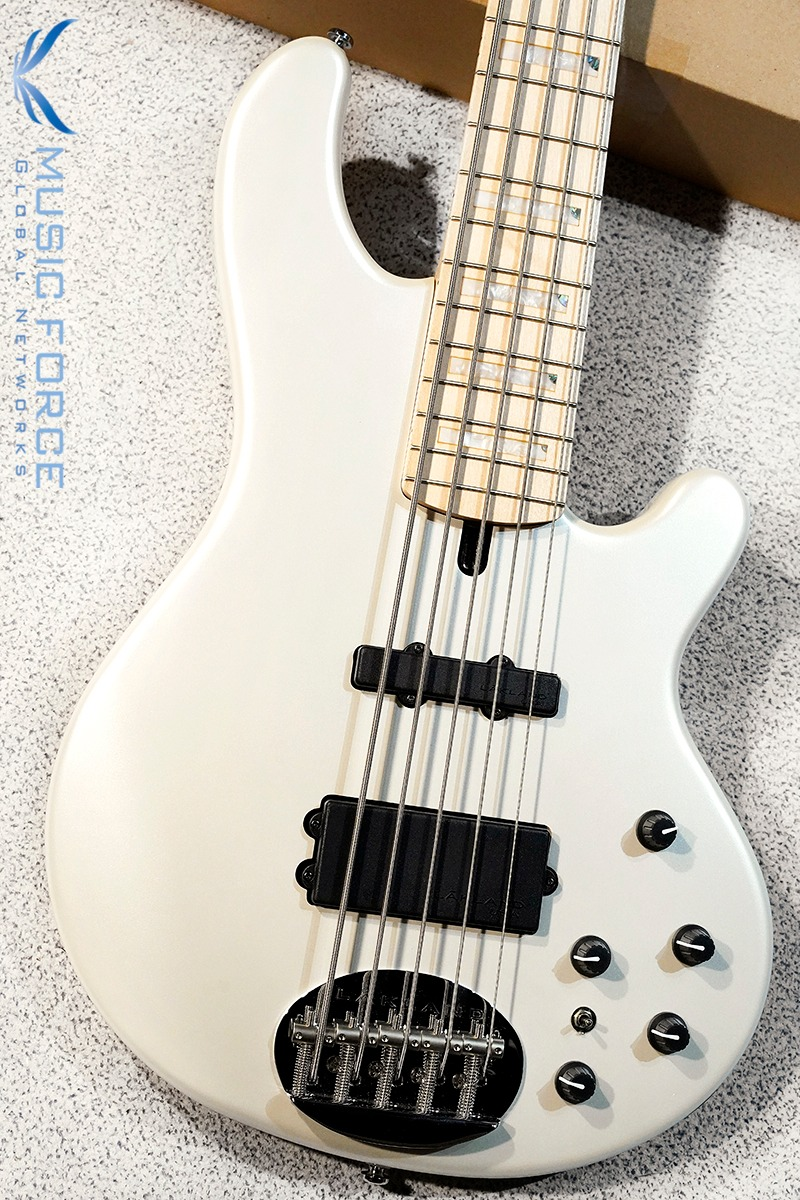Lakland Skyline 55-02 Custom Pure White w/Maple FB & Special Block Inlay (2020년산/신품)