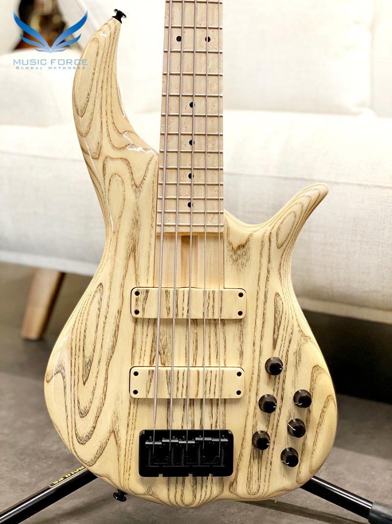 F-Bass BN5 Natural Gloss w/Black Grain w/Birdseye Maple FB & Black HW(신품)