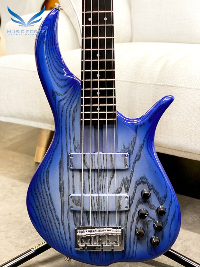 F-Bass BN5 Pale Blue Burst Gloss-Black Grain w/Macassar Ebony FB(신품)