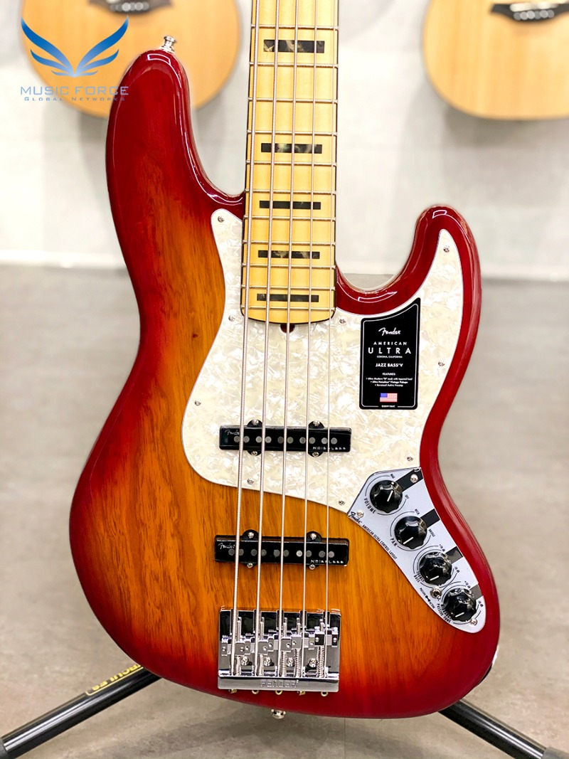 Fender USA American Ultra Jazz Bass V-Plasma Red Burst w/Maple FB (2020년산/신품) 펜더 아메리칸 울트라 재즈베이스 5현